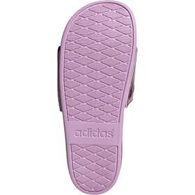 adidas Adilette Comfort Slides Women, cherry metalic/cherry metalic/clear lila